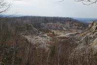 View of Rib Mountain's quartzite quarry