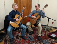Guitarists Miles McConnell and Gabor Szarvas