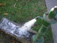 Water Coming Out Of A Pump