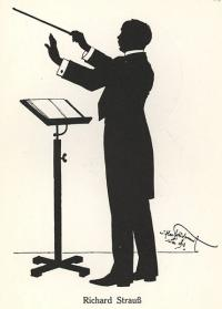 Richard Strauss silhouette created by Hans Schliessmann in Vienna in 1918