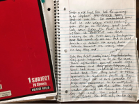 One of Erin Entrada Kelly's notebooks