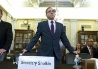 Veterans Affairs Secretary David Shulkin arrives to testify on veterans programs