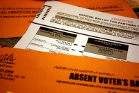 Absentee ballot from the 2012 presidential election