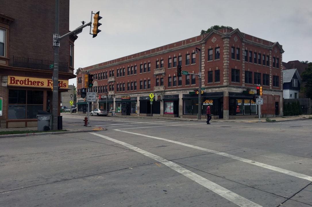 The corner of 27th and State in Milwaukee's Concordia neighborhood