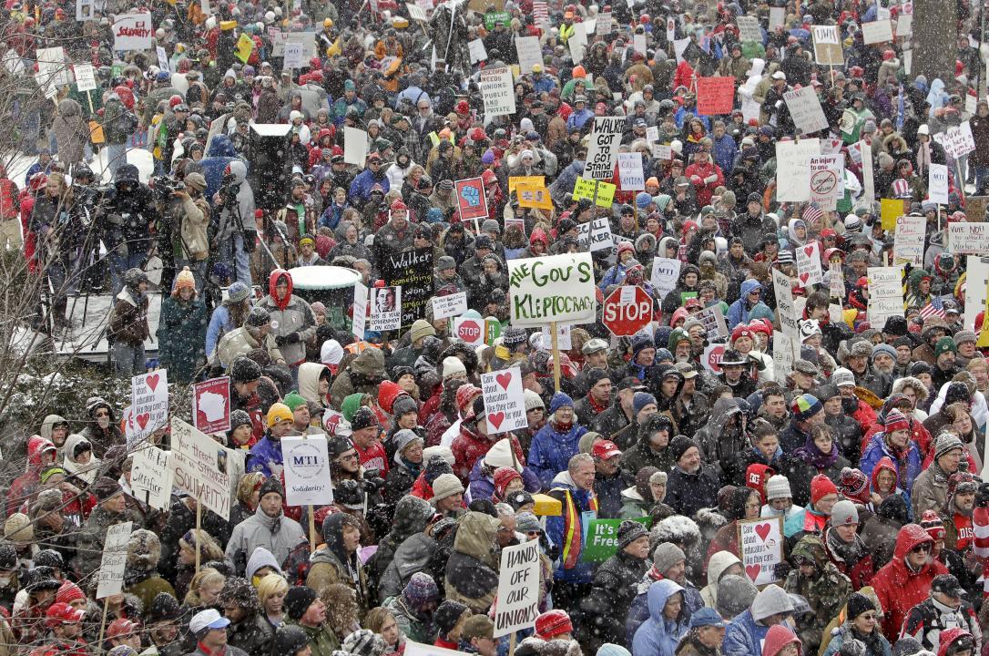 Act 10 protestors