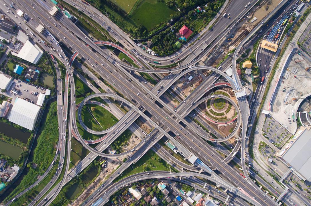 interstate aerial view