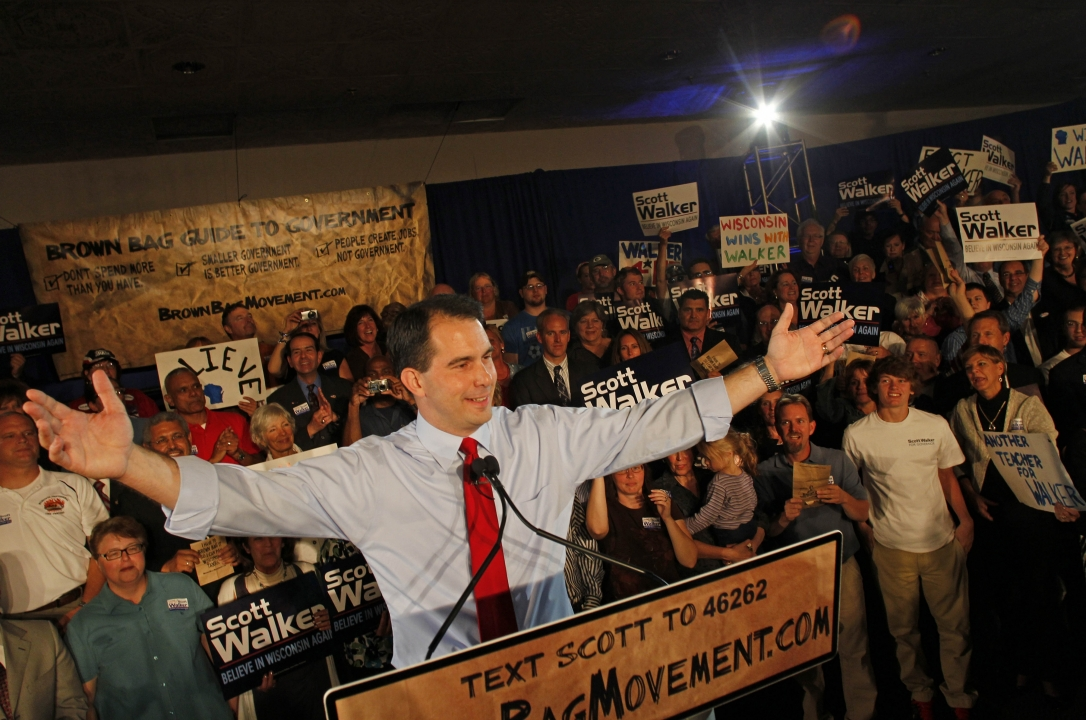 Wisconsin Republican gubernatorial candidate Scott Walker