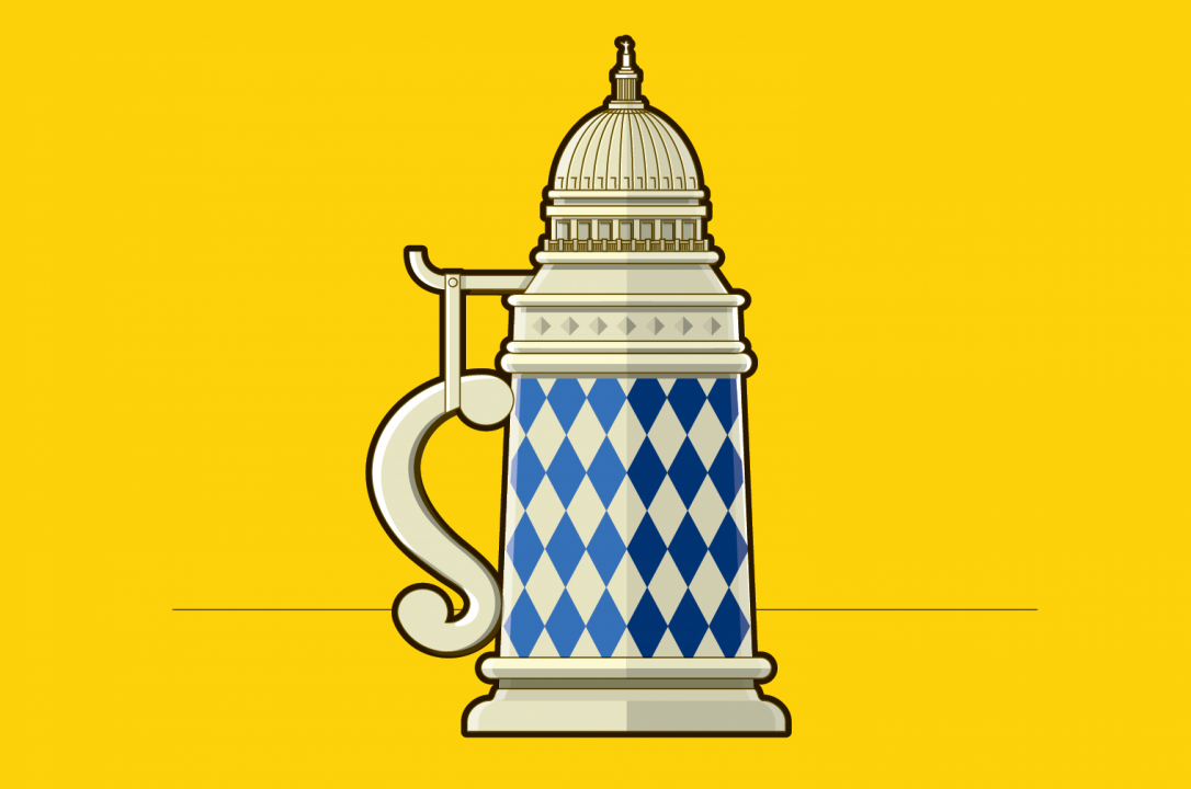 Capitol beer stein illustration