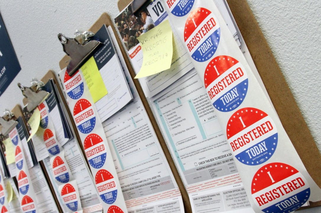 voter registration stickers