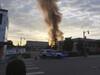 Smoke rising in downtown Sun Prairie