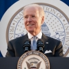 an image of Joe Biden standing at a podium with the text live special coverage presidential inauguration
