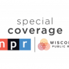 the words special coverage and the logo for WPR and the logo for NPR