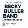 image of guitars and the words Becky Buller Band at the Simply Folk Shindig 2020