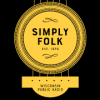 a guitar sound hole with Simply Folk logo